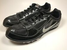 3527b1bb66eda Nike Zoom Rival S Track Field Spikes Running Shoes Black Silver Men s US 6.5