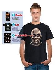 ZOMBIE MUGSHOT digital dudz moving eyeballs adult shirt halloween costume LARGE