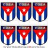 "CUBA Cuban Shield 1.6""(40mm) Mobile Cell Phone Mini Vinyl Stickers, Decals x6"