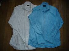 John Lewis Lot de 2 chemises bouton de manchette  taille 39 homme costard chic