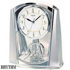 Rhythm 7772/19 quartz Horloge de table pendule Bat au ralenti couleur argent