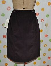ETCETERA 2 SPORTY corduroy plum Cotton Above Knee SKIRT NWT $150 cute !!