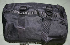 BICYCLE handlebar bag PANNIER saddle black ROUND nylon LEXCO cycling bike