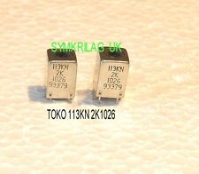TOKO 113KNK1026HM RF TRAP COIL 7KN BASE, 2 PIECE OFFER!