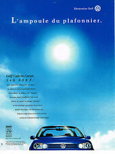 PUBLICITE ADVERTISING 0314   1998   VOLKSWAGEN   la GOLF CABRIO CARAT