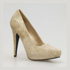 High (3 in. to 4.5 in.) Formal Textured Heels for Women