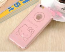 Funda Carcasa TPU Brillantina Iphone 5/5s Rosa Hello Kitty 3d