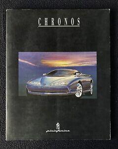 1991 Pininfarina Chronos Concept Car Press Kit Brochure Photos Italian English