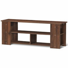 "Brown 2-Tier TV Stand Entertainment Media Center Console Shelf for TV's 50"" New"