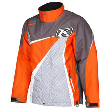 Brand New Klim Kaos Parka Jacket ~ Large ~ Orange/Gray ~ 3803-000-140-400