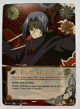 NARUTO CCG TCG ITACHI UCHIHA SUPER RARE FOIL CARD