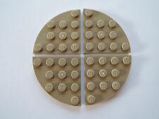 Lego 4 x Platte 30565 dunkelbeige dark tan 4x4 Viertelkreis