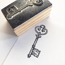 Vintage Key Wooden Wooden Rubber Printing Stamp Scrapbooking Craft Cards Stamps