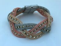 Bracelet Women Wrist Band Gold/Silver/Rose Tone Crystals Accent Fashion Bracelet
