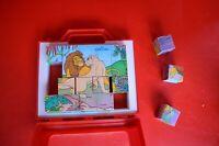2 EFEKT Puzzle Cube Blocks LION KING Farm Animals Made in Slovenia