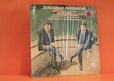 MOZART VIOLIN CONCERTOS - ZUKERMAN / BARENBOIM - COLUMBIA SHRINK LP RECORD -Z
