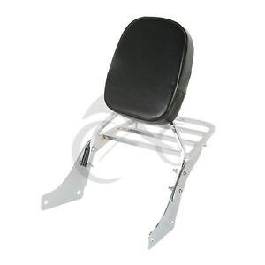TCMT Chrome Backrest Sissy Bar Luggage Rack Fit For Honda Shadow SABRE VT1100