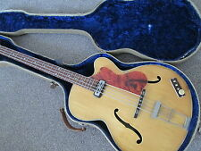 Hofner 500/3 semi acoustic bass - 1960 - blonde - very rare model.