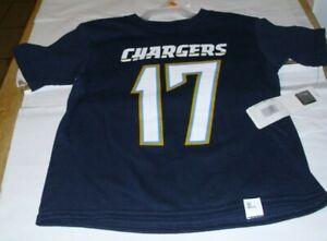 NFL LA CHARGERS #17 RIVERS T-Shirt Tee Boy's Size 4T Kids W/ Tag
