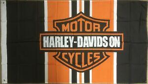 Harley Davidson Fahne Orange 150 x 90 cm Route 66 USA Amerika Road Glide Iron