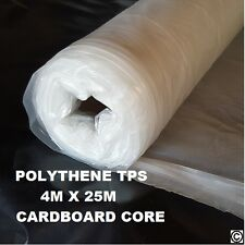 Clear Builders Thin Polythene Plastic Sheeting Roll TPS 25m x 4m 100M2