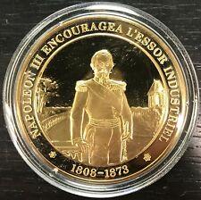 HISTOIRE DE FRANCE - Médaille Vermeil Argent Doré or fin - Napoléon III