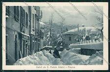 Como San Fedele d'Intelvi Nevicata cartolina QK3643