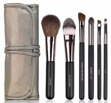 Docolor 6 pc Professional Make Up Brush Travel Set Bag Wooden Handle Brushes M7