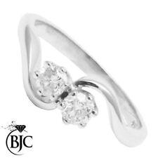 Anillos de joyería con diamantes naturales de compromiso SI2