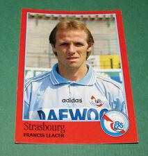 N°291 FRANCIS LLACER RC STRASBOURG RCS MEINAU PANINI FOOT 97 FOOTBALL 1996-1997