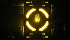 XBOX 360 BRIGHT YELLOW RING OF LIGHT / RF BOARD MODULE REPLACEMENT POWER BUTTON