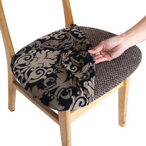 4/6pcs Chair Covers for Dining Room Chairs Stretch Spandex Chair Seat Covers
