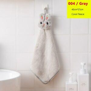 Lovely Hand Towel velvet Baby Rabbit Plush Kitchen Soft Hanging Bath Wipe Towel