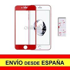 Cristal Templado 3D 5D IPHONE 7 PLUS / 8 PLUS Protector CURVO ROJO a3807 nt