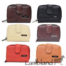 Lorenz Leather Bifold Zip-Around Women's Purses & Wallets