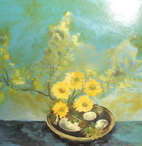 Surrealist contemporary still life oil painting signed