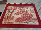 Vintage Victorian French velvet Tapestry scene wall hanging or curtain