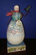 """Jim Shore Small Snowman """"Hats Off To Winter"""" 7.25"""" w/box"""