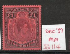 LEEWARD ISLAND £1 SG114 Dec. 37 Ptg. lightly hinged. Cat. £375.