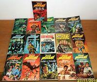 Lot de 16 romans Bob Morane collection Marabout et autre H.Vernes bon état