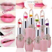 Magic Flower Lipstick Color Jelly Transparent Temperature Change Lip Gloss UK