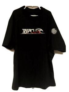 Rip Curl Youth Large Rashguard Surf Shirt Short Sleeve Rash Guard VGUC