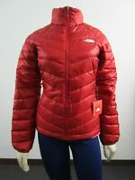 Womens The North Face TNF Flare Full Zip 550-Down Winter Packable Jacket Cardina