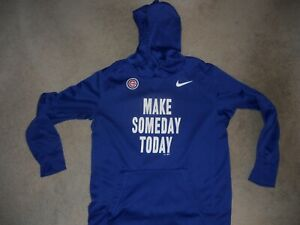 NWOT Chicago Cubs MLB Baseball Hoodie Nike Therma Base Make Someday Today Large