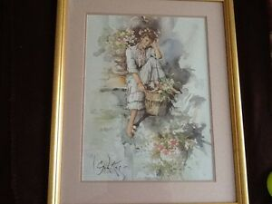 print by Gordon King, Signed, Framed & mounted
