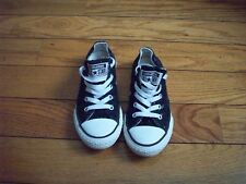 CONVERSE ALL-STAR 645345fF LOW BLACK /WHITE SNEAKERS JUNIOR SIZE 13 Youth