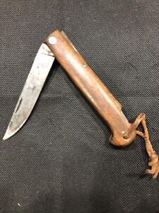 VINTAGE KABAR KA-BAR USA 1179 OLD TIMERS TRAPPER FOLDING KNIFE