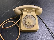 Telefono a disco Sip Siemens giallo crema vintage