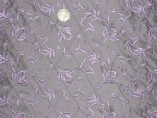 SILK DUPION RAISED FLORAL JACQUARD-LILAC-DRESS/BRIDAL FABRIC-FREE P&P