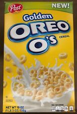 NEW POST GOLDEN OREO O'S CEREAL 19 OZ CREAM COATING FLAVORED WALMART EXCLUSIVE